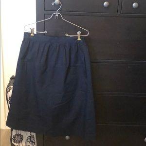 Gap Navy Midi Skirt